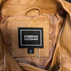 Foreign Exchange Jackets & Coats - Crop leather jacket